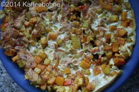 Kartoffel-Kürbis-Tortillia