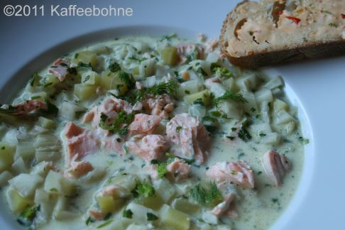 lachs chowder aus dem crockpot kaffeebohne. Black Bedroom Furniture Sets. Home Design Ideas