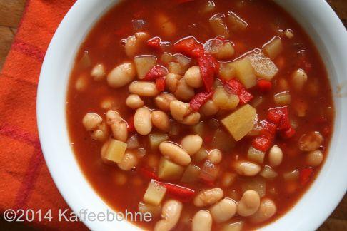 Serbische Bohnensuppe aus dem Slowcooker