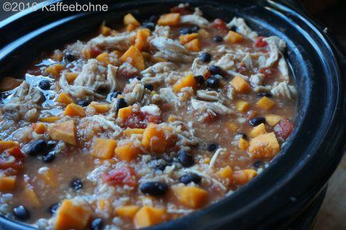 Süßkartoffel-Hühnchen-Quinoa Eintopf